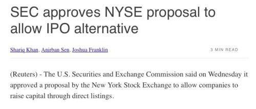 纽约证券交易所重磅提案通过 以后上市更容易了